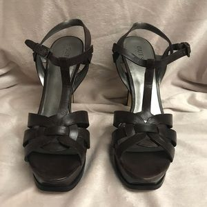 Guess T-strap platform heel